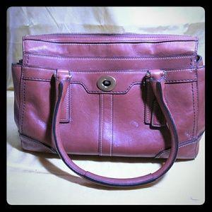 Coach tan Leather Hampton Bag